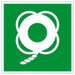 Rettungszeichen - Rettungsring mit Leine - E041