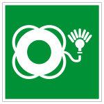 Rettungszeichen - Rettungsring mit Licht - E042
