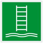 Rettungszeichen - Einbootungsleiter - E053