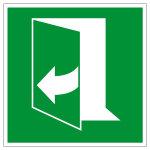 Rettungszeichen - Tür öffnet durch ziehen rechte Seite - E058