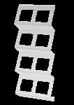 C-Holder | Folienkassettenregal | 2-Reihig