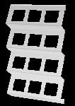 C-holder | Foil cassette shelf | 3 rows