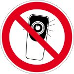 Prohibition Sign - Photo Handic Prohibited