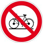 Prohibited sign - bicycles prohibited