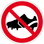 Prohibited sign - Entry prohibited with football boots