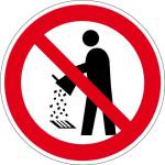 Prohibition sign - Do not empty into drains