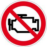 Prohibition sign - Stop the engine! risk of poisoning