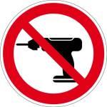 Prohibited sign - Drilling prohibited