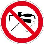 Prohibited sign - welding prohibited