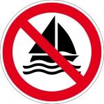 Prohibition Sign - Sailing prohibited
