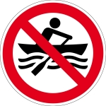 Prohibited Signs - Muscle boats prohibited