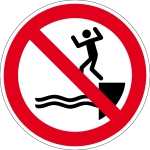 Prohibition Sign - Jumping into the Water