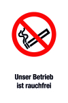 Prohibition sign - Our company is non-smoking