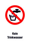 Prohibition sign - No drinking water