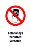 Prohibited sign - Photo handys are forbidden