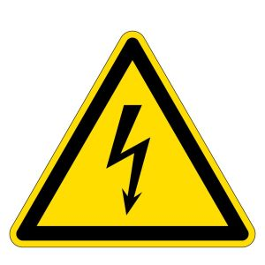Warning sign - Warning of dangerous electrical voltage - Foil self-adhesive - Thigh length 5 cm