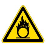Warning sign - warning of fire-promoting substances