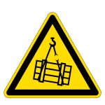 Warning sign - warning of suspended load
