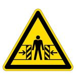 Warning signs - Danger of crushing hazard