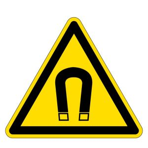 Warning sign - warning of magnetic field - foil self-adhesive - side length 5 cm