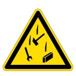 Warning sign - warning of falling objects
