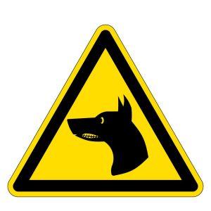 Warning Sign - Warning Watchdog - Foil Self-Adhesive - Thigh length 5 cm