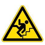 Warning sign - warning of stairs