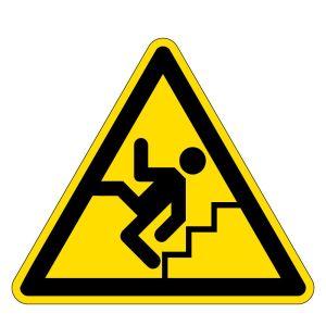 Warning sign - warning of stairs - foil self-adhesive - leg length 5 cm