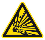 Warning sign - Warning of explosive substances