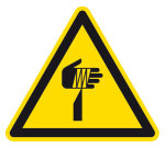 Warning sign - Warning of pointed object