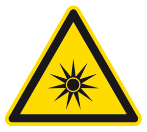 Warning sign - Warning of optical radiation - Foil self-adhesive - Thigh length 5 cm