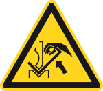 Warning signs - Danger of crushi ... ween the press and the workpiece