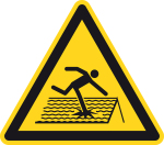Warning sign - Warning of non-passage-proof roof