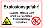 Information sign - Danger of explosion!