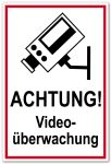 Access plate - Attention! video surveillance