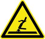Warning sign - warning of shallow water