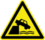 Warning sign - warning of unprotected edges