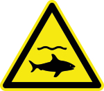 Warning signs - warning of sharks