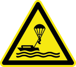 Warning signs - Parasailing warning