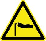 Warning signs - warning of strong winds