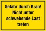 Construction site sign - Danger  ... o not step under suspended load!