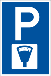 Parking sign - parking meter