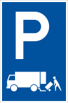 Parking sign - Only for delivery