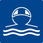 Swimming pool sign - wear swim cap