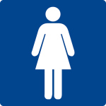 Swimming pool sign - WC ladies