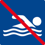 Swimming pool sign - swimming prohibited