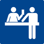 Swimming pool sign - ticket counter
