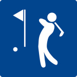 Swimming pool sign - Golf course