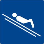 Swimming pool sign - Slipping only when lying down