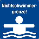 Swimming pool sign - No swimming limit!